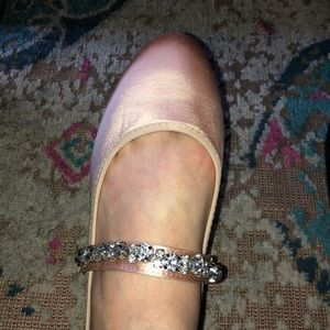 Shoes - Pink flats with bejeweled strap